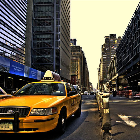 Xe taxi Cab NYC.