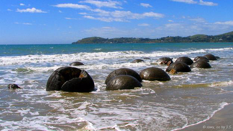 Khối đá cuội Moeraki, New Zealand