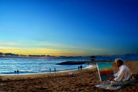 Bãi biển Canggu, đảo Bali