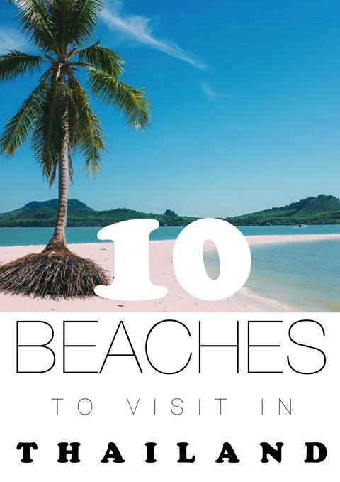 Thái Lan nổi tiếng với những bãi biển cát trắng đẹp hoang sơ.
