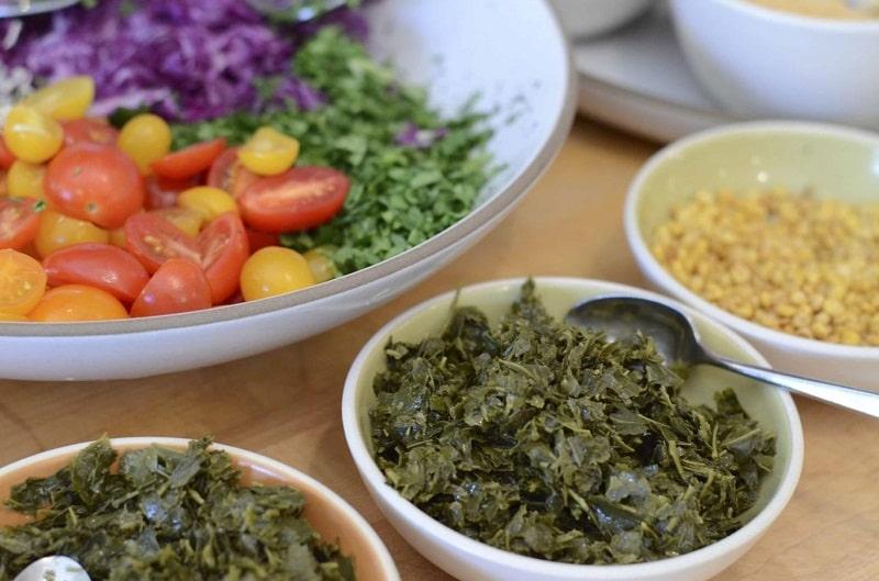 Lá trà lên men nguyên liệu chính của Salad lá trà