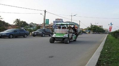 Xe điện phương tiện đi lại ở Sẩm Sơn
