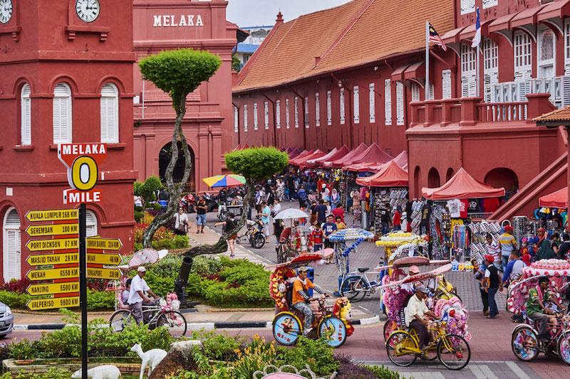 Nhịp sống sôi động của thành phố Malacca