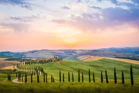 Vùng Tuscany nằm ở miền trung nước Ý