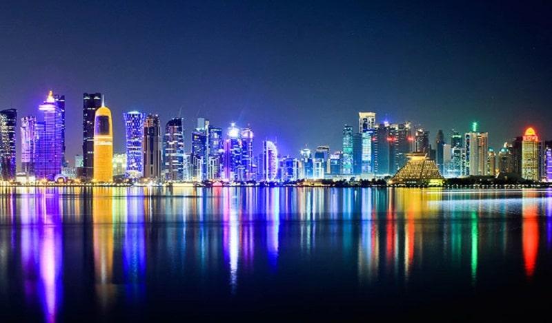 Thủ đô Doha lung linh về đêm