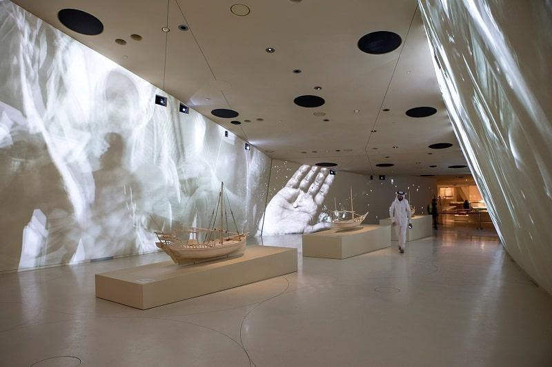 Bên trong bảo tàng quốc gia Qatar