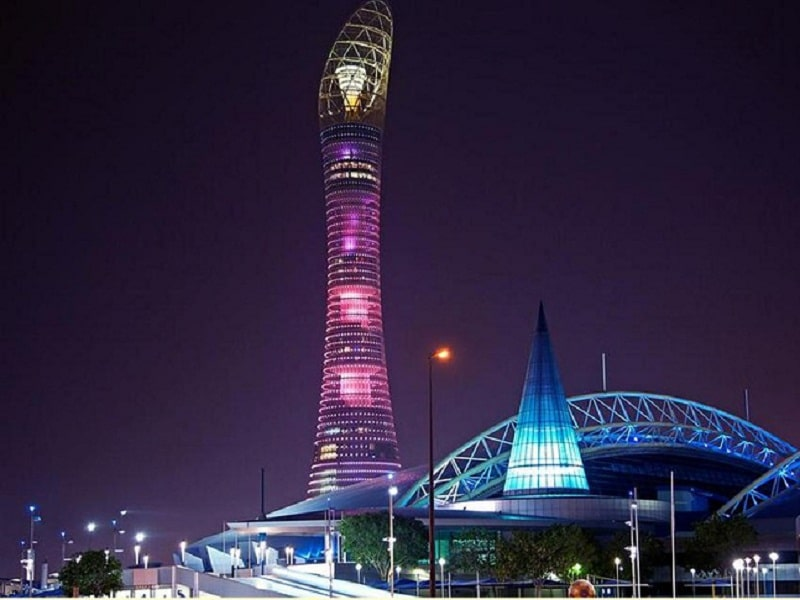 Tòa tháp ngọn đuốc điểm check in ấn tượng khi đến Qatar