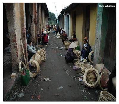 chợ làng Chuông chùa Trầm Hà Nôi