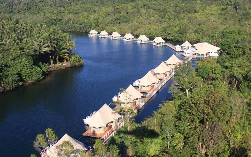 4 Rivers Floating Lodge floatel cao cấp ở Campuchia