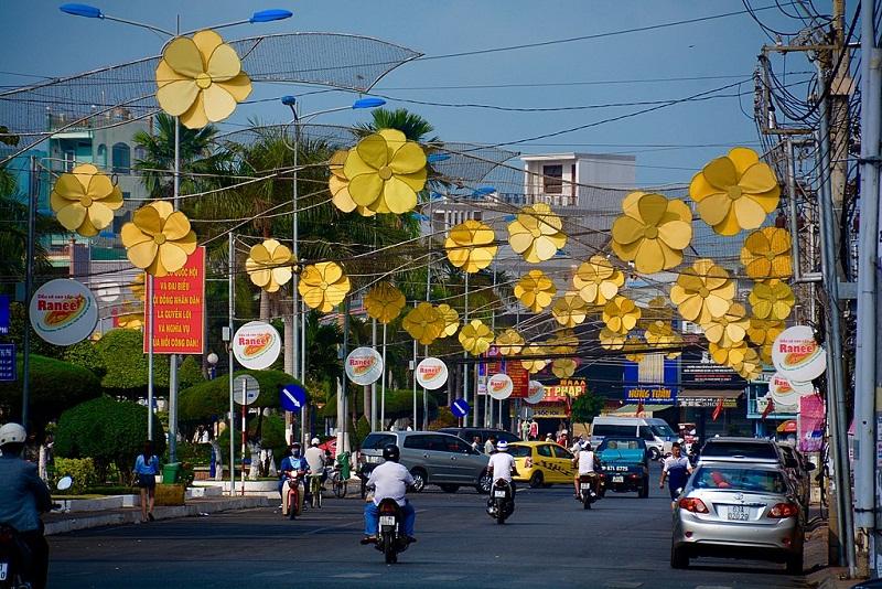 Một góc đường tại Thành phố Long Xuyên