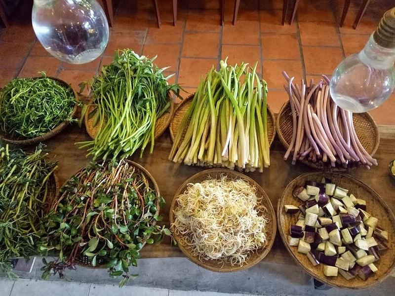 Các loại rau ăn với lẩu mắm