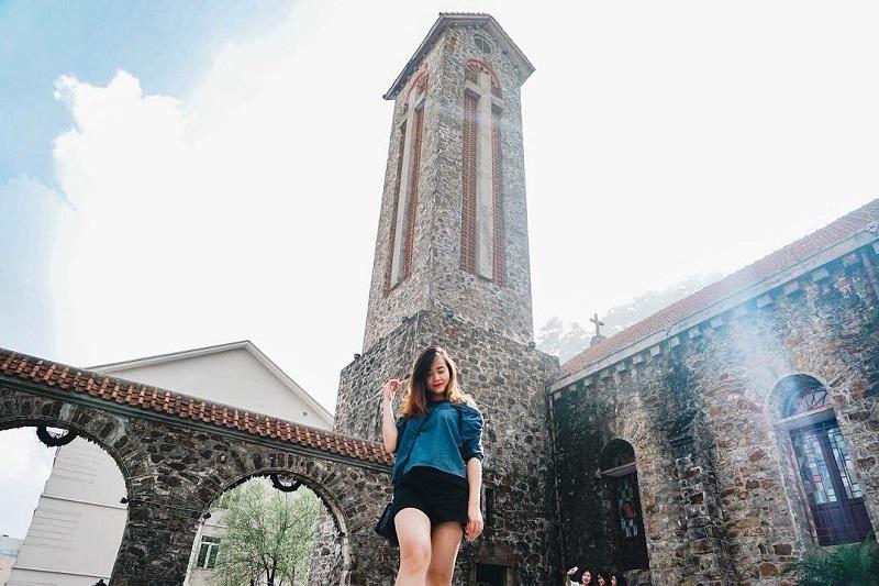 Nhà thờ cổ Tam Đảo chụp hình cực chất