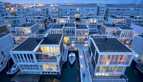 Hiện đại quận nhà nổi ở Amsterdam