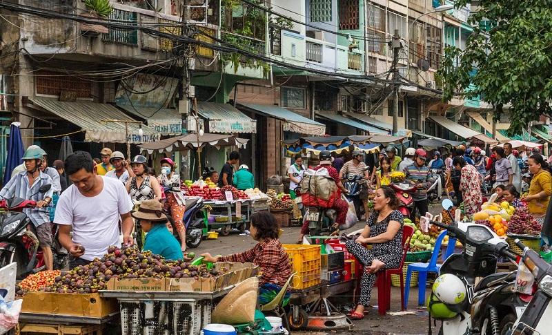 Khu chợ Đầm Thị Nại sầm uất