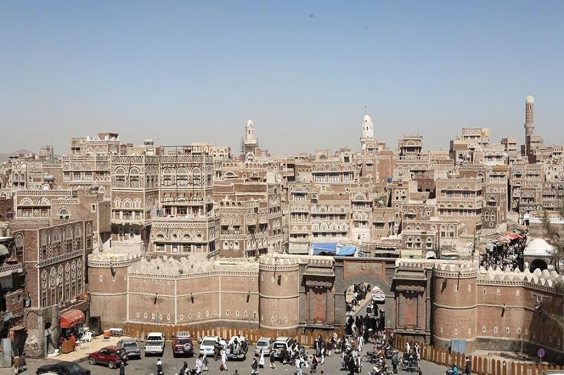 Cổng Bab al-Yemen nơi dẫn vào thành cổ Sanaa