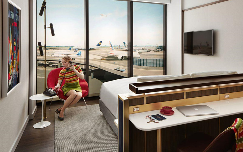 Khách sạn xa hoa trong sân bay JFK, New York
