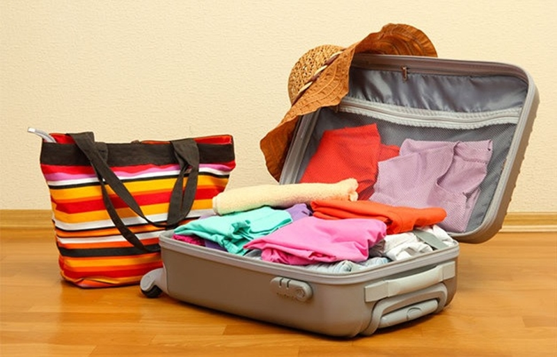 Sắp xếp đồ hợp lý sẽ giúp hành lý luôn gọn nhẹ