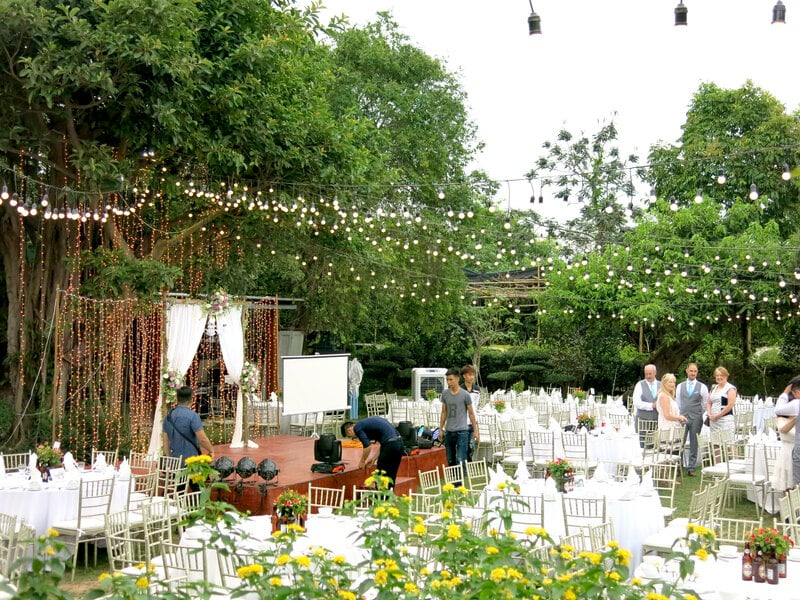 Soft Water còn là một trong những nơi tổ chức tiệc cưới ngoài trời lý tưởng