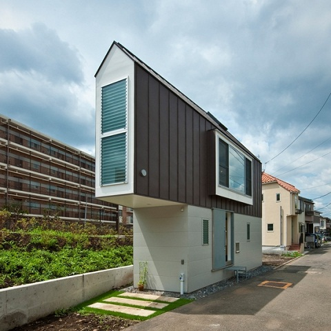 Đây là một kyosho jutaku - nhà thu gọn