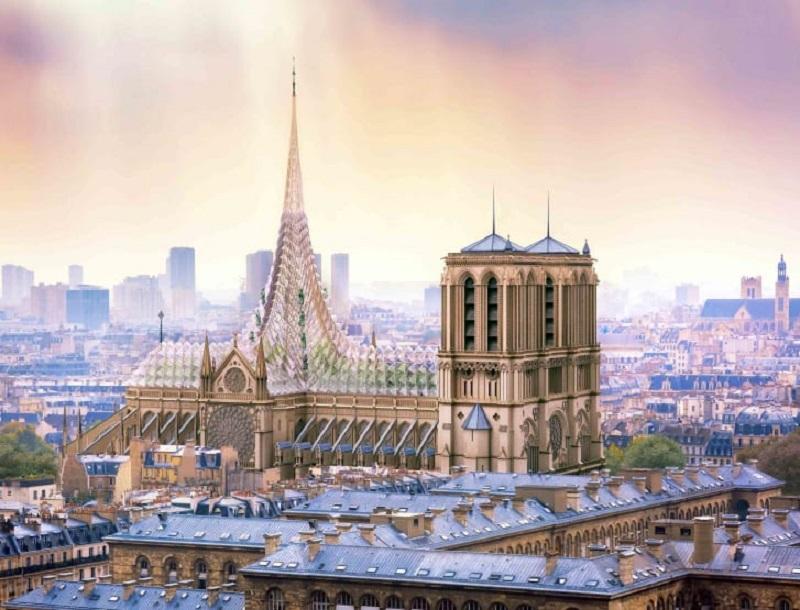 tu sửa nhà thờ Đức Bà Paris