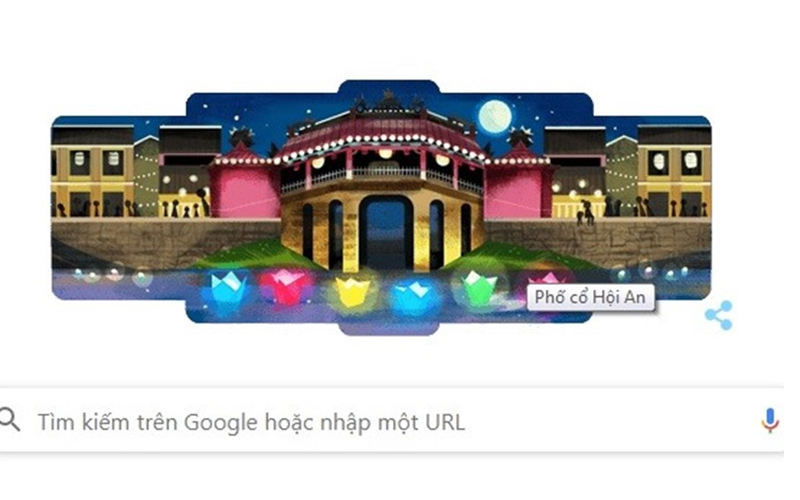 Phố cổ Hội An lần đầu tiên xuất hiện trên Google Doodle