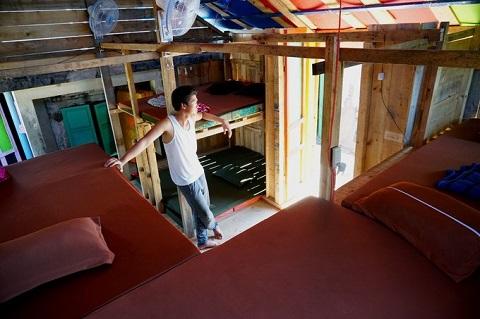 Phòng ốc ở homestay đảo Bé Lý Sơn