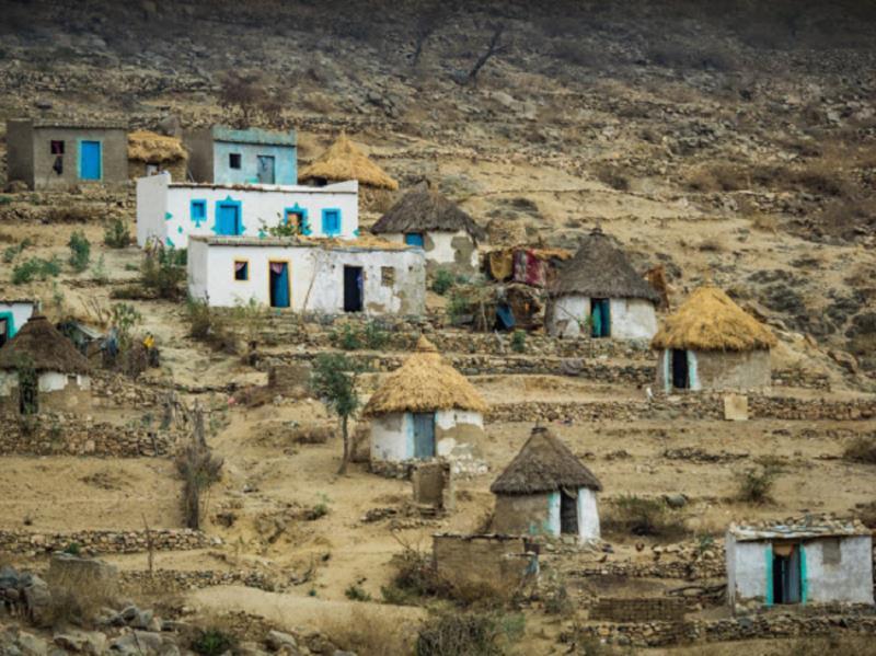 Những ngôi nhà truyền thống của người dân ở Eritrea