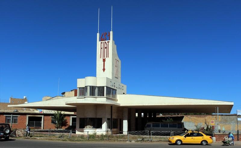 Tòa nhà Fiat Tagliero tại thủ đô Asmara – là một trạm dịch vụ được thiết kế bởi kiến trúc sư người Ý