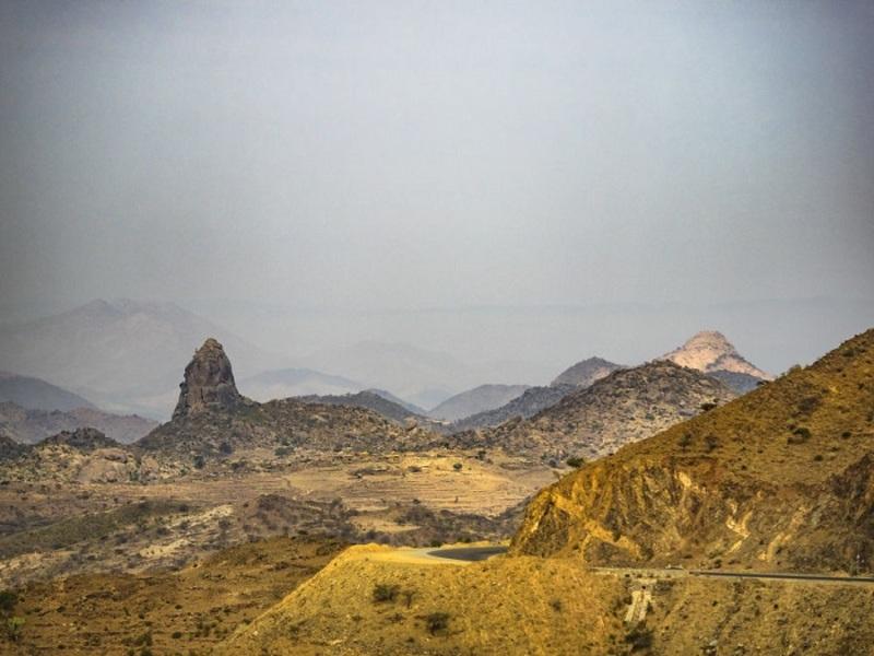 Phong cảnh như trên hành tinh khác tại miền tây Eritrea