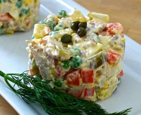 Salad Olivier của Nga