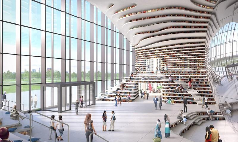"""Thư viện độc đáo mệnh danh là """"con mắt của Thiên Tân"""""""