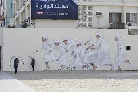 Nghệ thuật đường phố Dubai