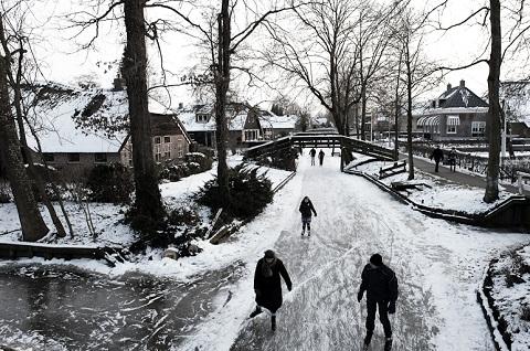 Tiết trời mùa đông ở Giethoorn