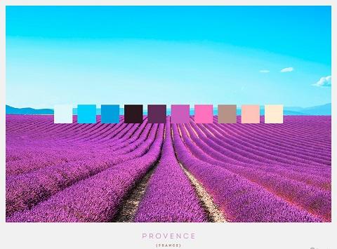 vùng Provence thuộc miền đông nam nước Pháp