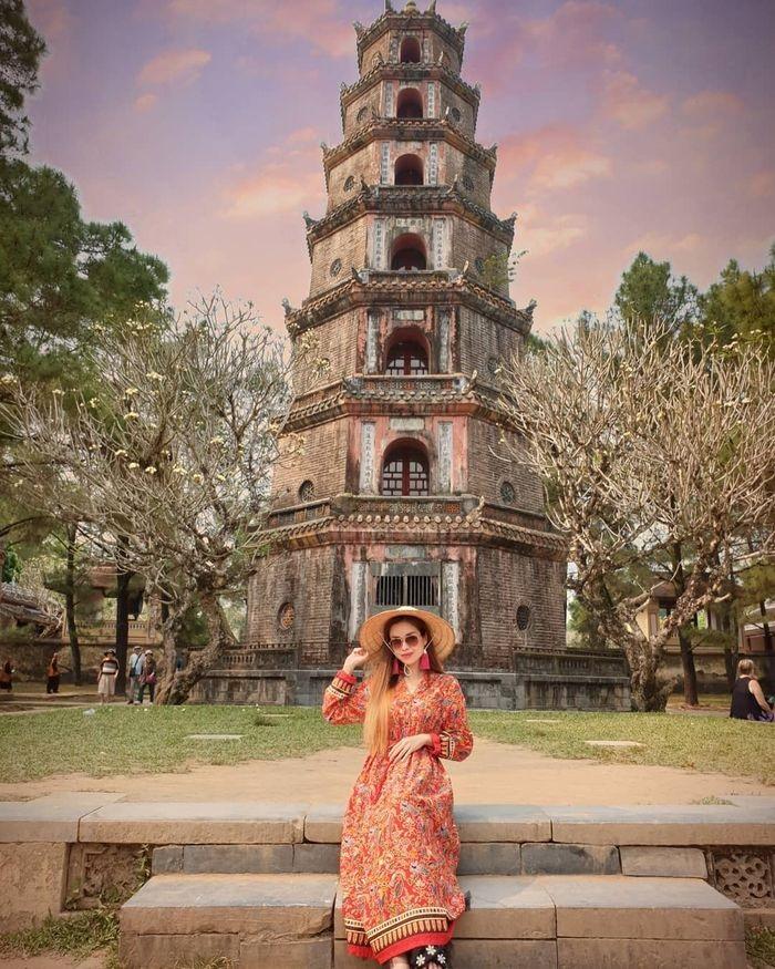 du lịch chùa Thiên Mụ - Check in tháp Phước Duyên