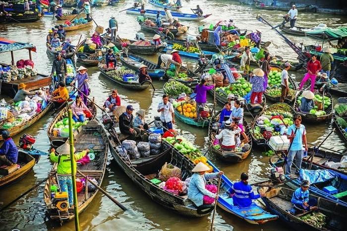 Tham quan chợ nổi Cái Răng trong chuyến tour du lịch miền Tây 4 ngày