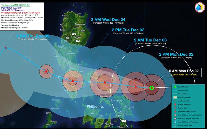 Bão Kammuri đổ bộ Philippines, trận đấu giữa U22 Việt Nam và U22 Singapore có nguy cơ hoãn thi đấu