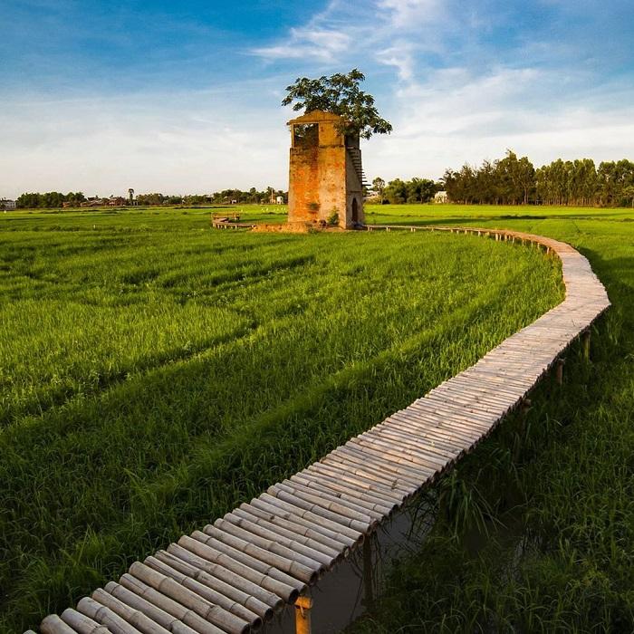 Khung cảnh vừa bình yên vừa thơ mộng của làng quê Quảng Nam.