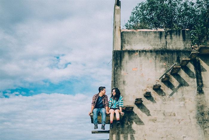Các cặp đôi cũng có thể lưu giữ những khoảnh khắc lãng mạn bên lò gạch cũ.