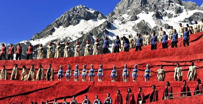 Vở diễntái hiện một cách chân thực và sống động những nét đẹp văn hóa truyền thống của vùng đấtVân Nam.Ảnh: sohu.com
