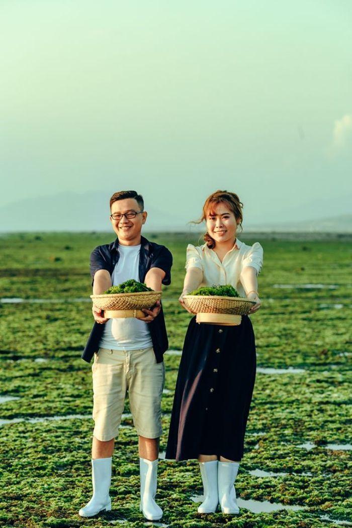 cánh đồng rong biển ở Phan Rang