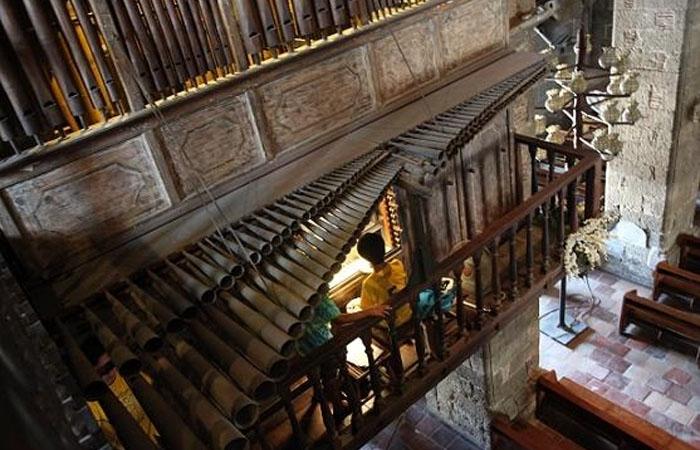Cây đàn organ bằng tre là báu vật quốc gia của Philippines. Ảnh: timeoutvietnam.com
