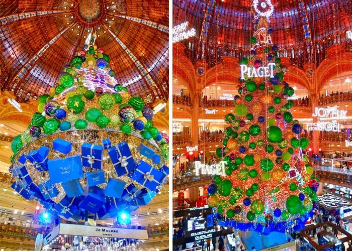 Cây thông Noel ở Trung tâm thương mại lớn. Ảnh: JasonW
