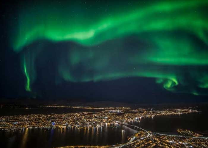 Cực quang ở Tromso. Ảnh: visittromso.no