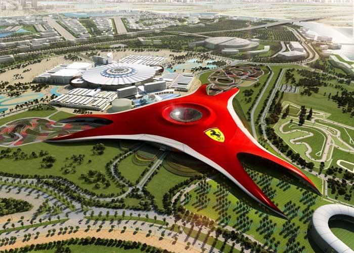 Biểu tượng Ferrari ở Ferrari World. Ảnh: saaih.com