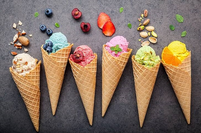 Kem gelato có rất nhiều vị cho thực khách lựa chọn- món ngon Italia