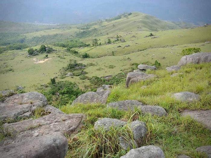 Đường lên đỉnh Bình Hương còn nguyên vẻ đẹp hoang sơ