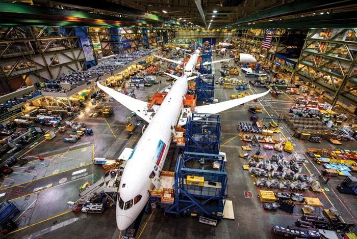Nhà máy sản xuất Boeing ở Seattle. Ảnh: seattlemet.com