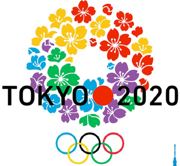 Hình ảnh biểu tượng chính thức của Olympic Tokyo 2020.