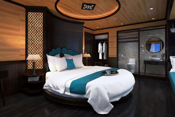 Phòng nghỉ trên du thuyền Hạ Long